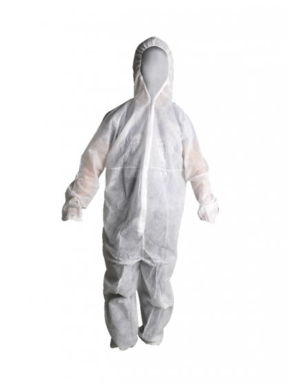 Disposable White Coverall Protective Clothing SafeCorp
