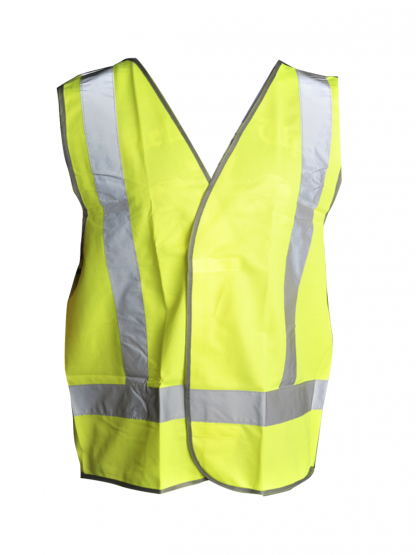 High Visibility Lime Green Safety Vest SafeCorp