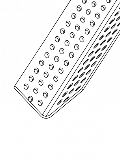 90º Internal Corner Bead PVC (Trim-Tex)