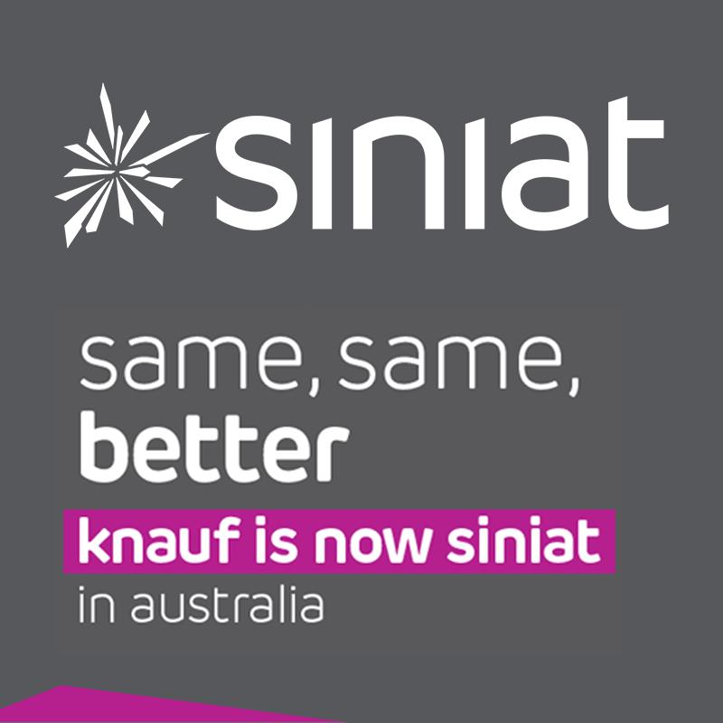 Same, Same, Better. Knauf Becomes Siniat in Australia.