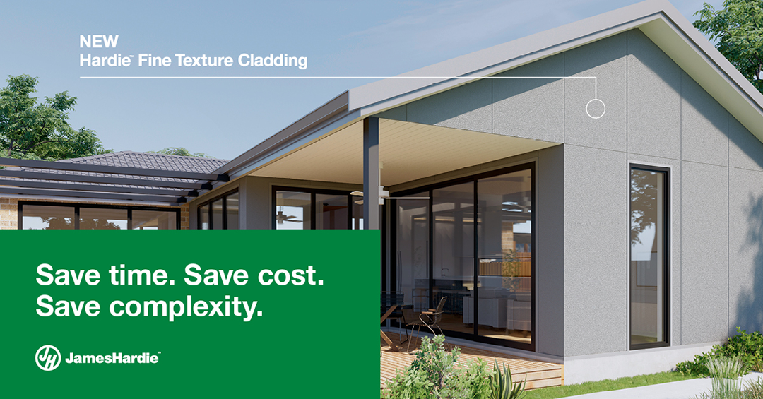 Hardie Fine Texture Cladding new from James Hardie