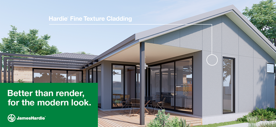 Hardie Fine Texture Cladding available from PlastaMasta Gold Coast, Burleigh, Toowoomba and Southside